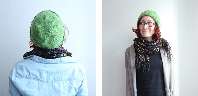 Green Knit Hat from Lana Grossa Bingo | naehzimmerblog.de