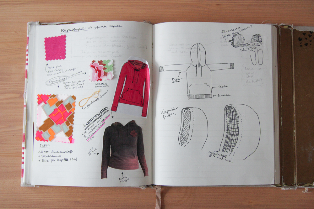 Sketchbook: self-drafted sweater with lined hood | naehzimmerblog.de