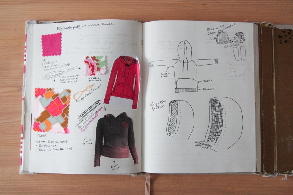 Sketchbook: self-drafted sweater with lined hood | naehzimmerblog.de