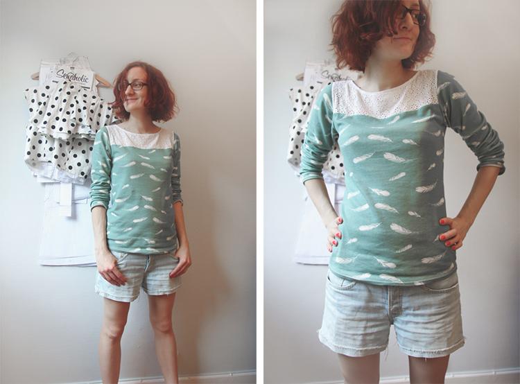 Birch Fabrics Feather Print Shirt |naehzimmerblog.de