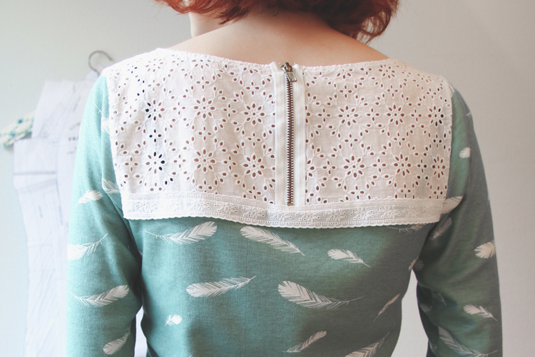 Feather Print Shirt: Back | naehzimmerblog.de