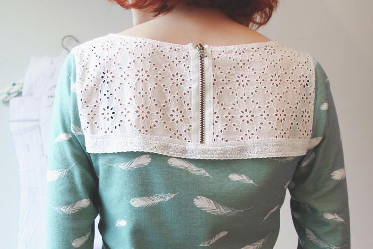 Feather Print Shirt: Back |naehzimmerblog.de