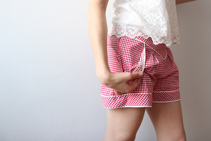 Gingham Deer&Doe Chataigne Shorts: Pocket Detail | naehzimmerblog.de