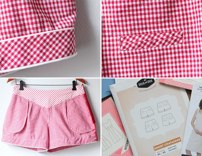 Gingham Deer&Doe Chataigne Shorts: Details | naehzimmerblog.de