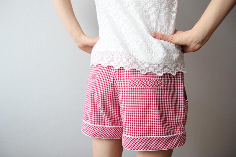 Gingham Deer&Doe Chataigne Shorts: Welt Pockets | naehzimmerblog.de