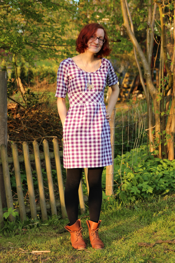 Dahlia Dress in Gingham