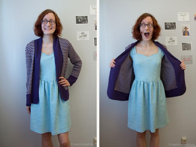 Outfit Alogn 2015: Olive Basket Cardigan | naehzimmerblog.de
