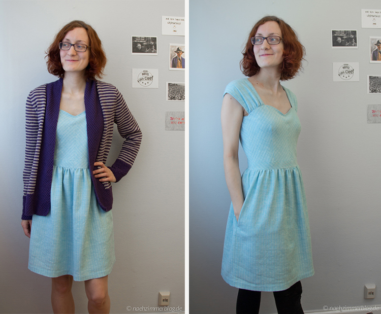 Outfit Along 2015: Olive Basket Cardigan and Cambie Dress |naehzimmerblog.de