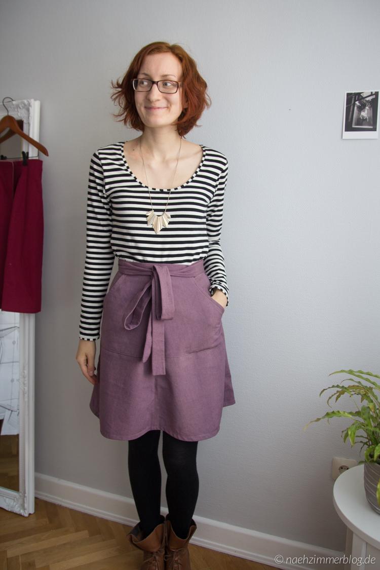Miette Wrap Skirt in Purple | naehzimmerblog.de