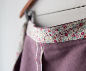 Purple Miette Wrap Skirt | naehzimmerblog.de