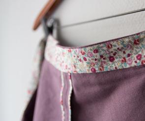 Purple Miette Wrap Skirt | naehzimmerblog.de