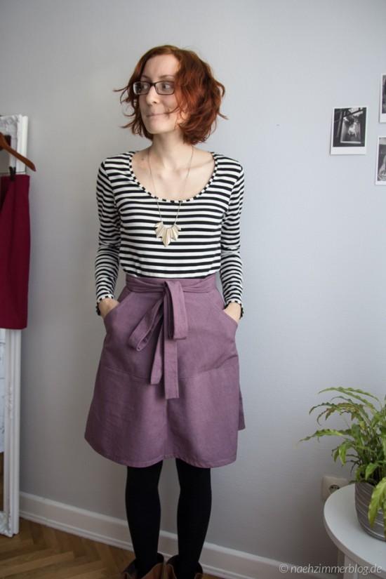 Purple Miette skirt | naehzimmerblog.de