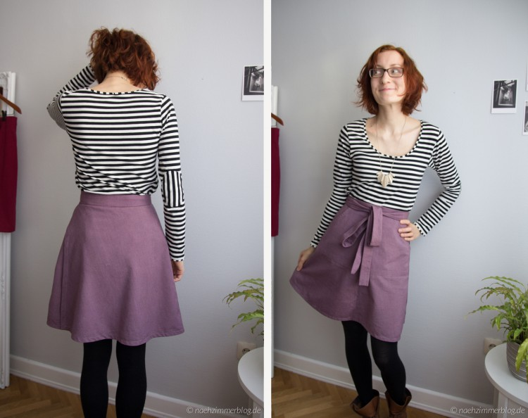 Miette skirt front and back | naehzimmerblog.de