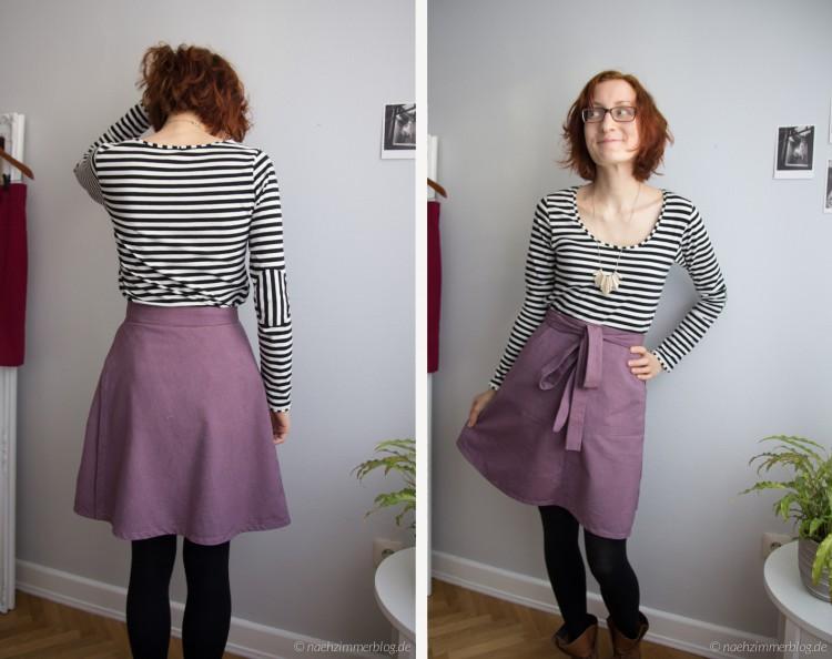 Miette skirt front and back | naehzimmerblog.de