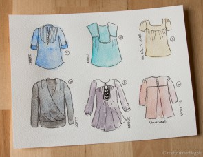 Sewing Pattern Roundup: 6 Blouses with beautiful Details | naehzimmerblog.de