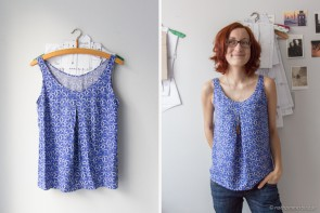 Summery Blue Sorbetto Top in cotton+steel rayon | naehzimmerblog.de
