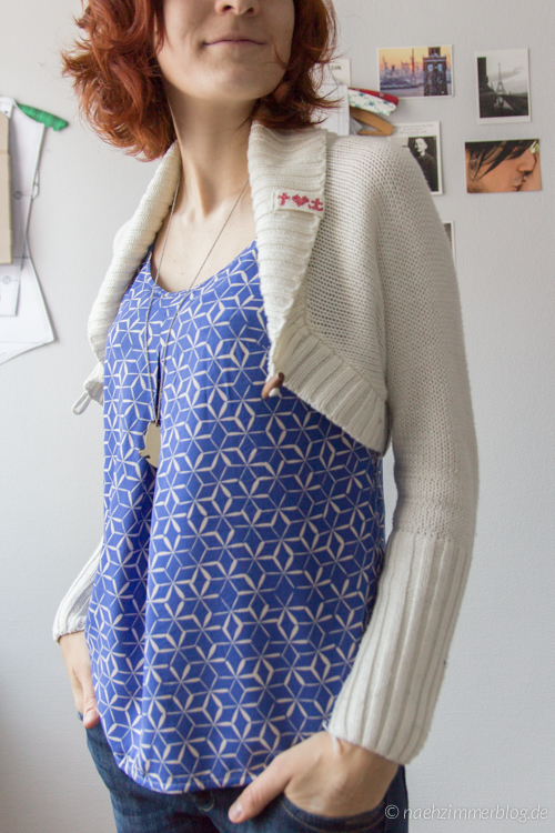 rayon sorbetto top styled for winter | naehzimmerblog.de