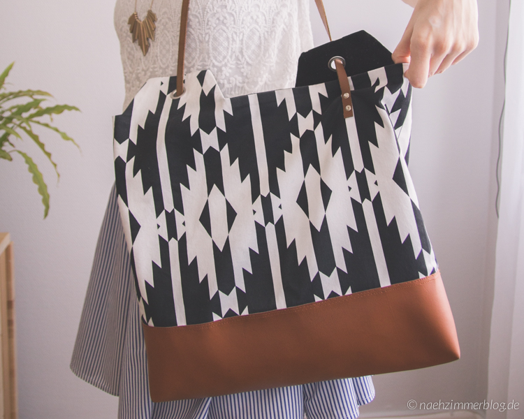 Sewn Aztec Ying Yang Bag