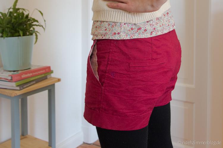 Pocket Lining Detail on Burda Easy Shorts | naehzimmerblog.de