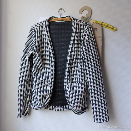 Unifinished Black and White Cardigan