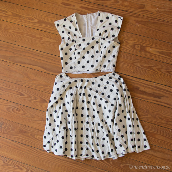 Unfinished Upcycling Project: Polka Dot Dress