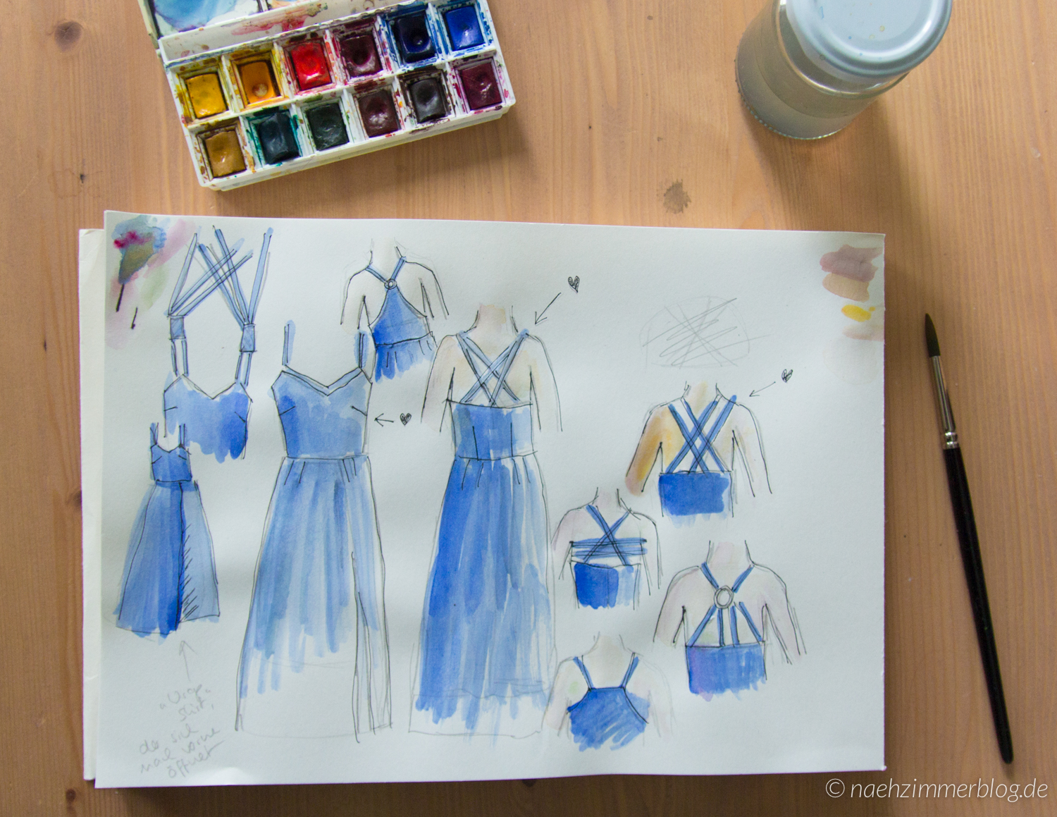 Cobalt Dress Strap Options: Sketches