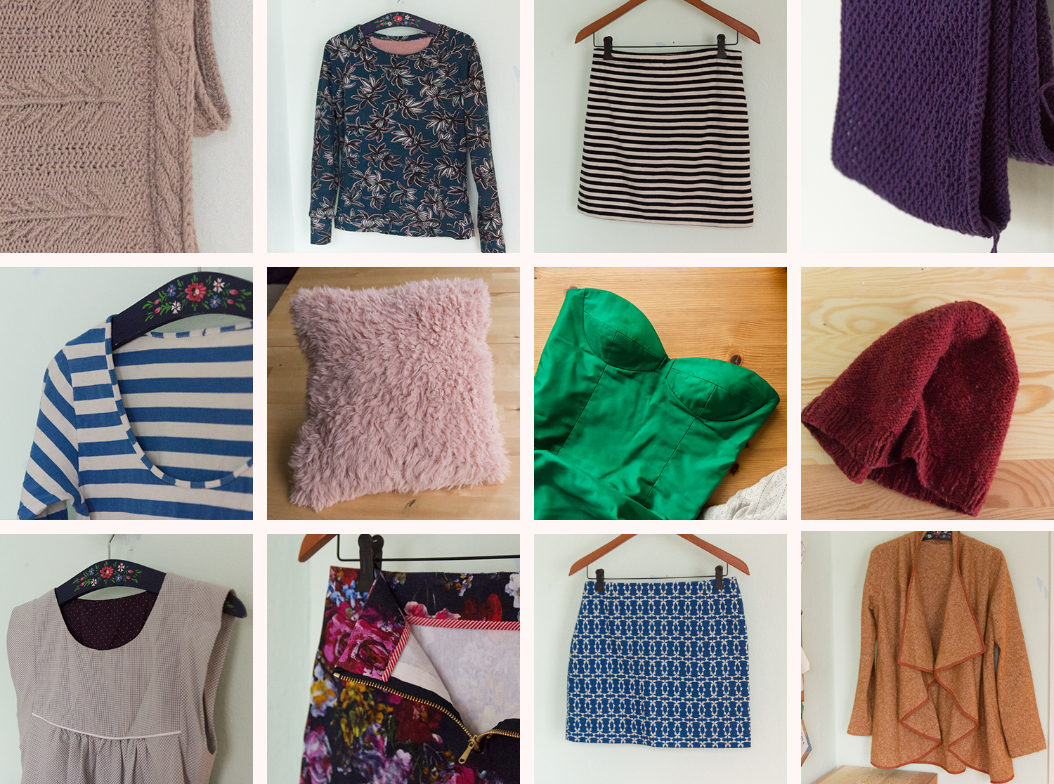 All my sewing and knitting projects of 2016